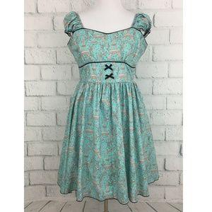 Lolita Girl Dresses - Lolita Girl Eiffel Tower Print Retro Pinup Dress